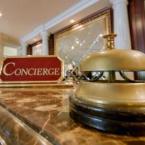 hotel concierge lobby background photo